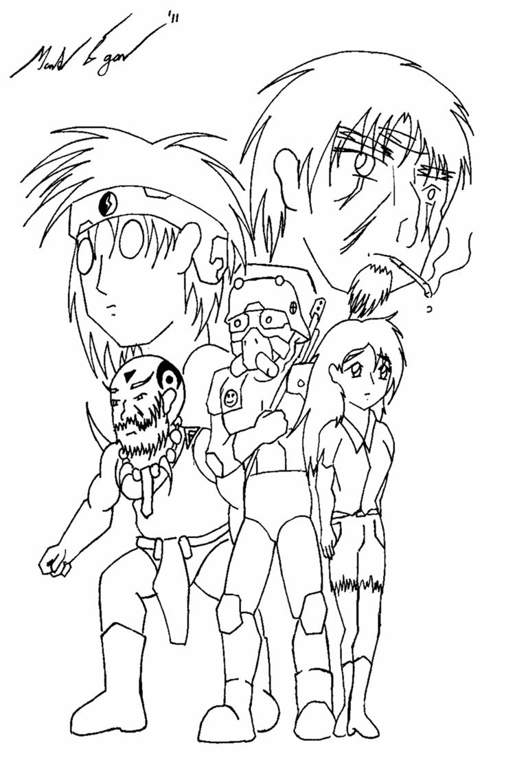 Black Snow Anime style