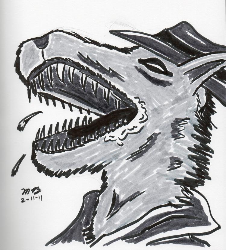 pen brush sketch of Redmond