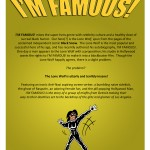 I'M FAMOUS! back cover