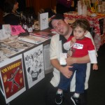 using my son to sell comics