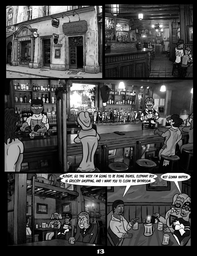 Black Snow: Two Drink Minimum page 13