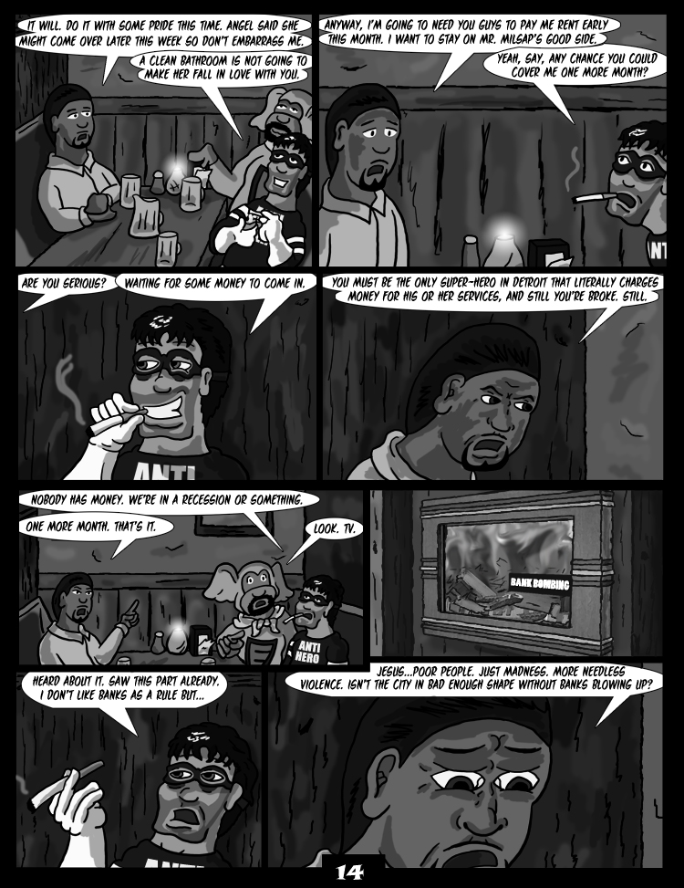 Black Snow: Two Drink Minimum page 14