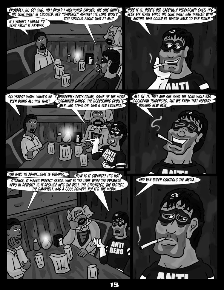 Black Snow: Two Drink Minimum page 15