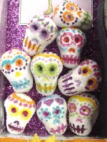 Dia De Los Muertos candy skulls