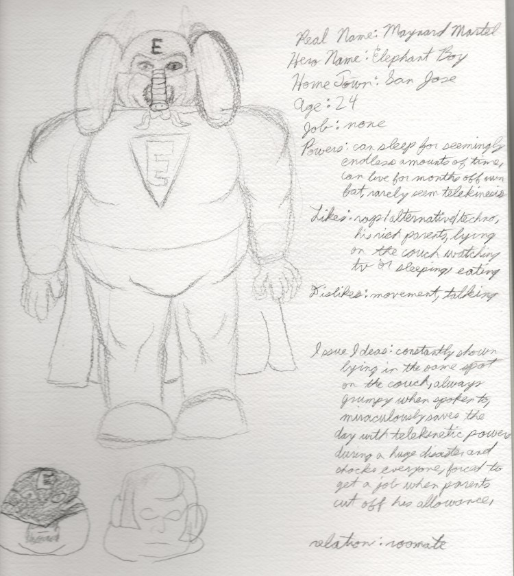 The Original Drawing of Elephant Boy