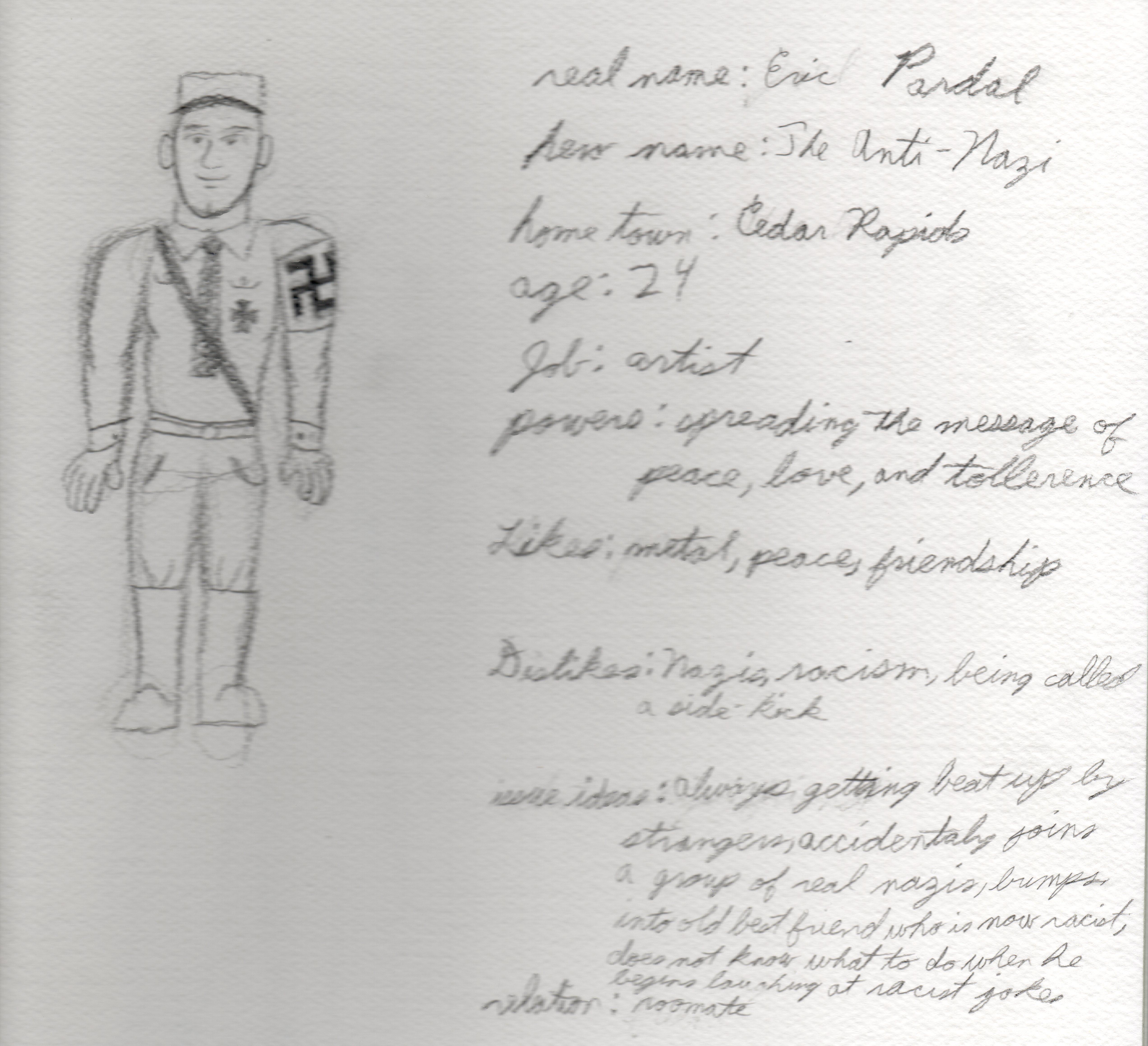 The Original Drawing of The Anti-Nazi