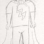 The Original Drawing of Lightning Lad