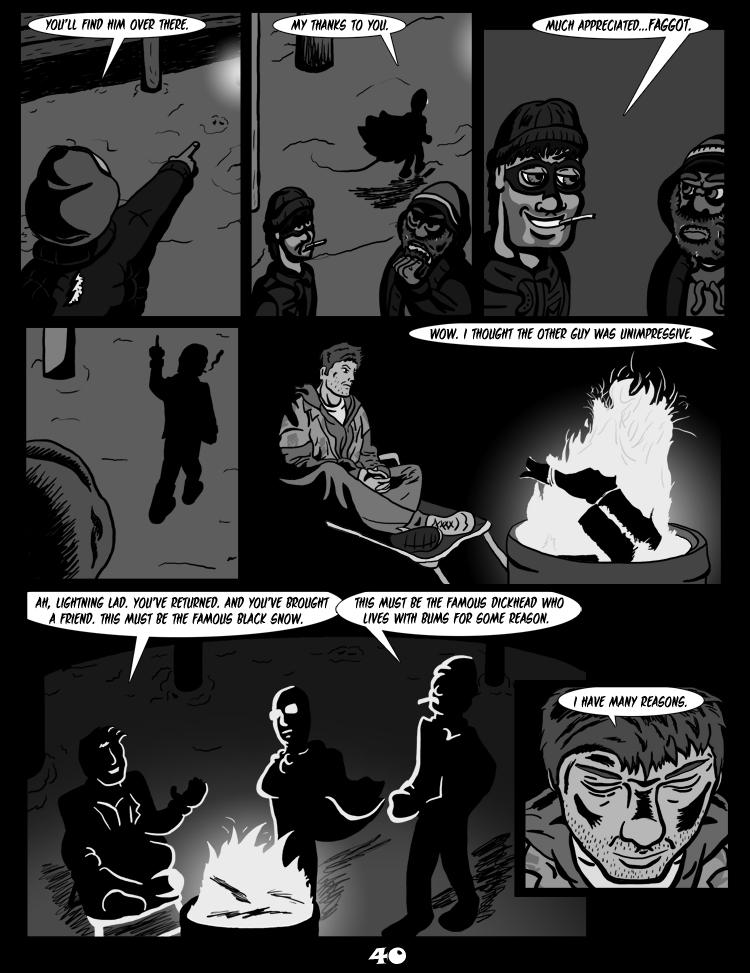 Black Snow: Two Drink Minimum page 40