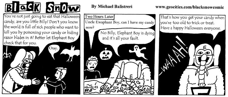 Black Snow Halloween comic