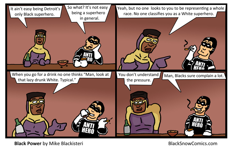 Black comic strips