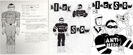 early Black Snow sketches