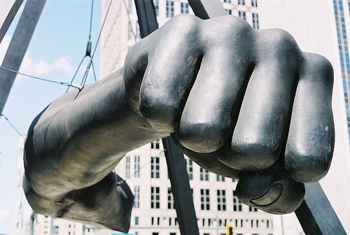 Detroit Fist statue
