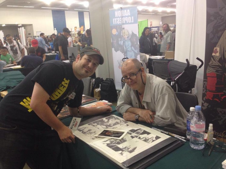 Michael Balistreri with Mike Mignola