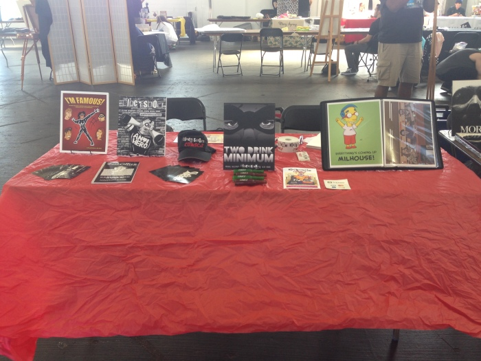 Black Snow Comics booth at the Alternative Press Expo 2014