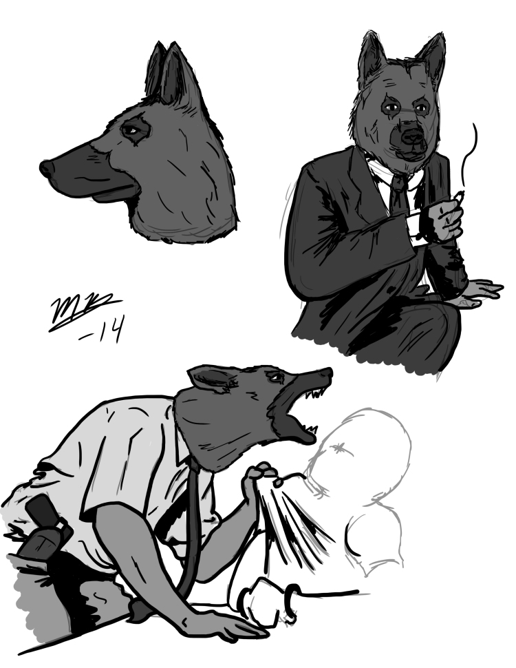 Detective Redmond sketches