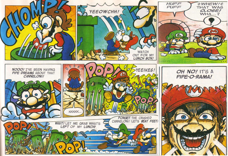 Nintendo Power magazine Mario comics