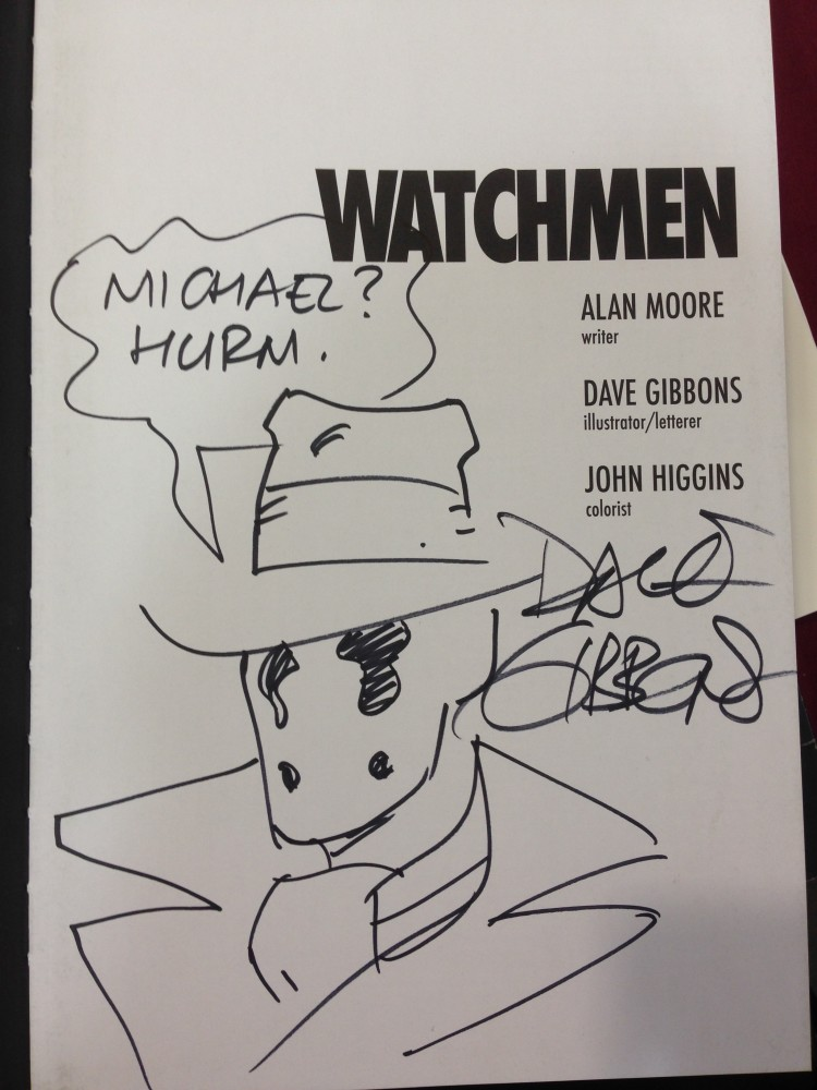 My signed and sketch copy of Aboslute Watchmen