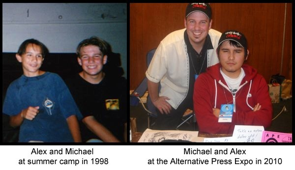 Alex and Michael over the years