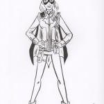 Batgirl new design drawing