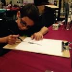 Bennett drawing at Wizard World
