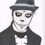 Day of the Dead - Man in Make Up drawing
