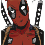 Deadpool drawing in color