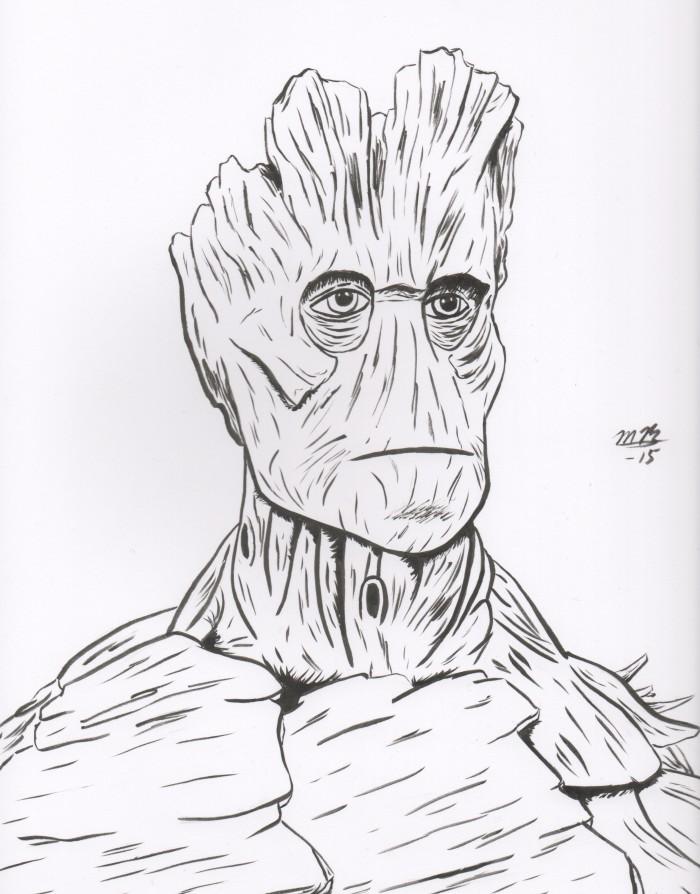 Groot drawing