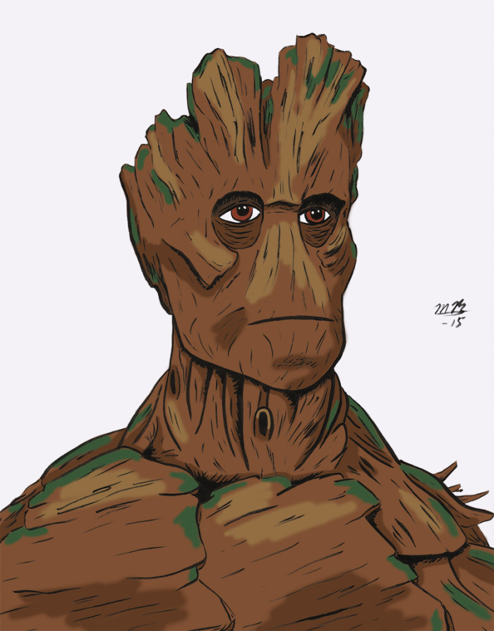 Groot drawing in color