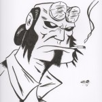 Hellboy drawing