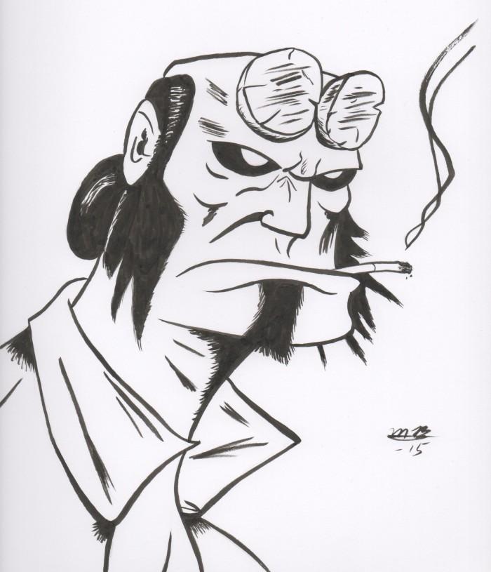 Hellboy drawing