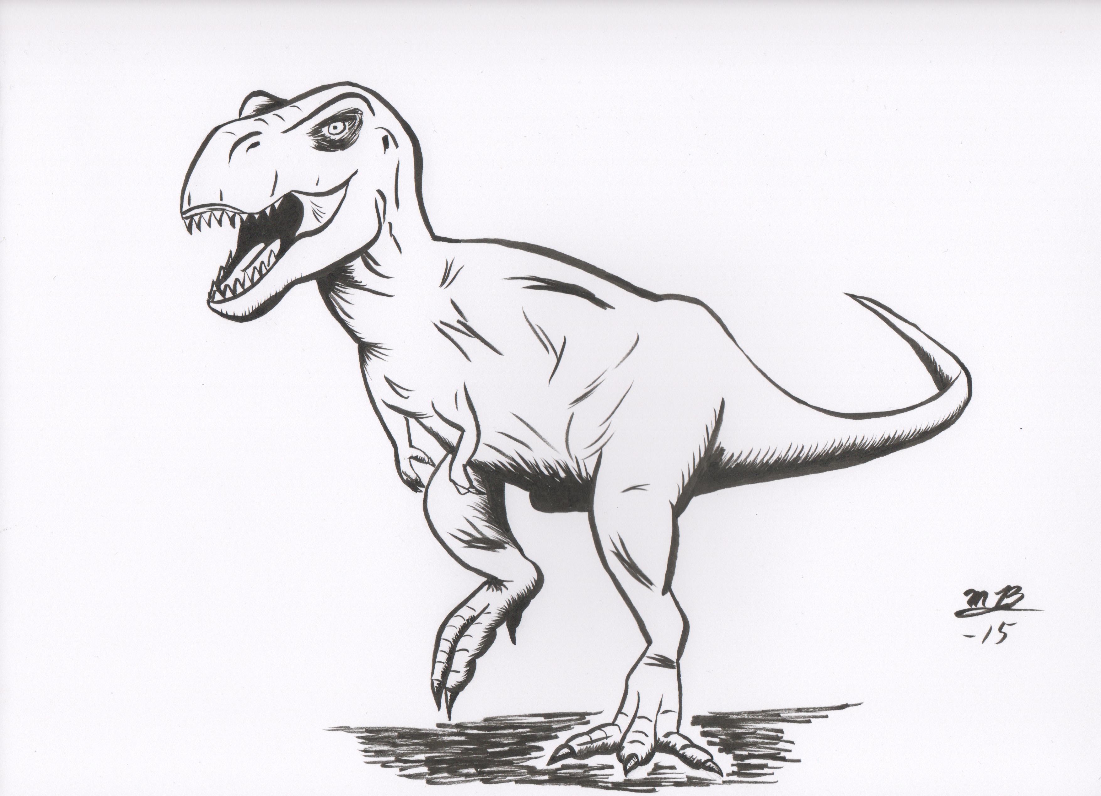динозавр рисунки карандашом более что