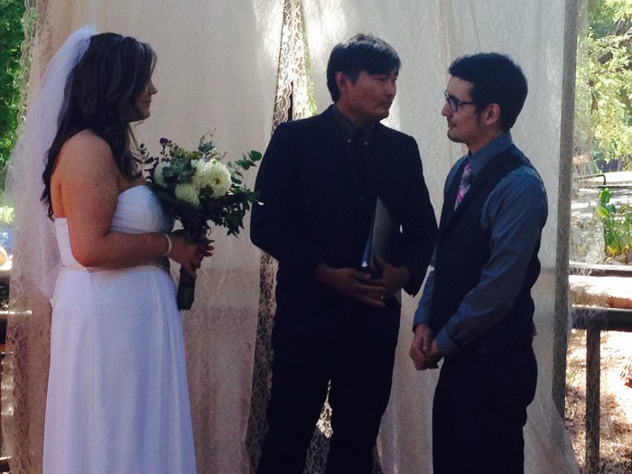 Alex and Autumn wedding ceremony with Mike Park