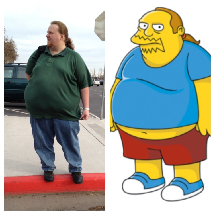 simpsons comic book guy in real life
