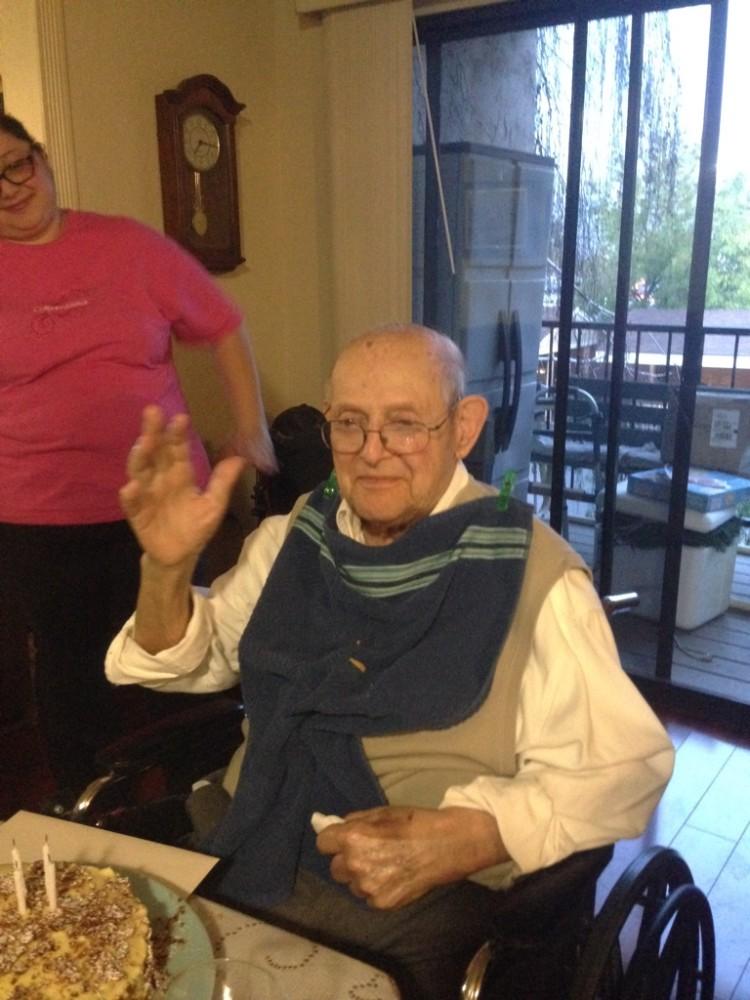 grandpa waving