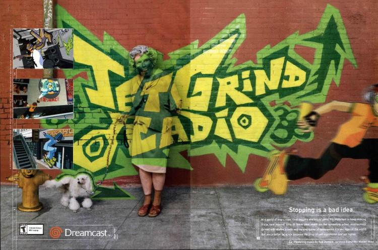 Jet Grind Radio ad