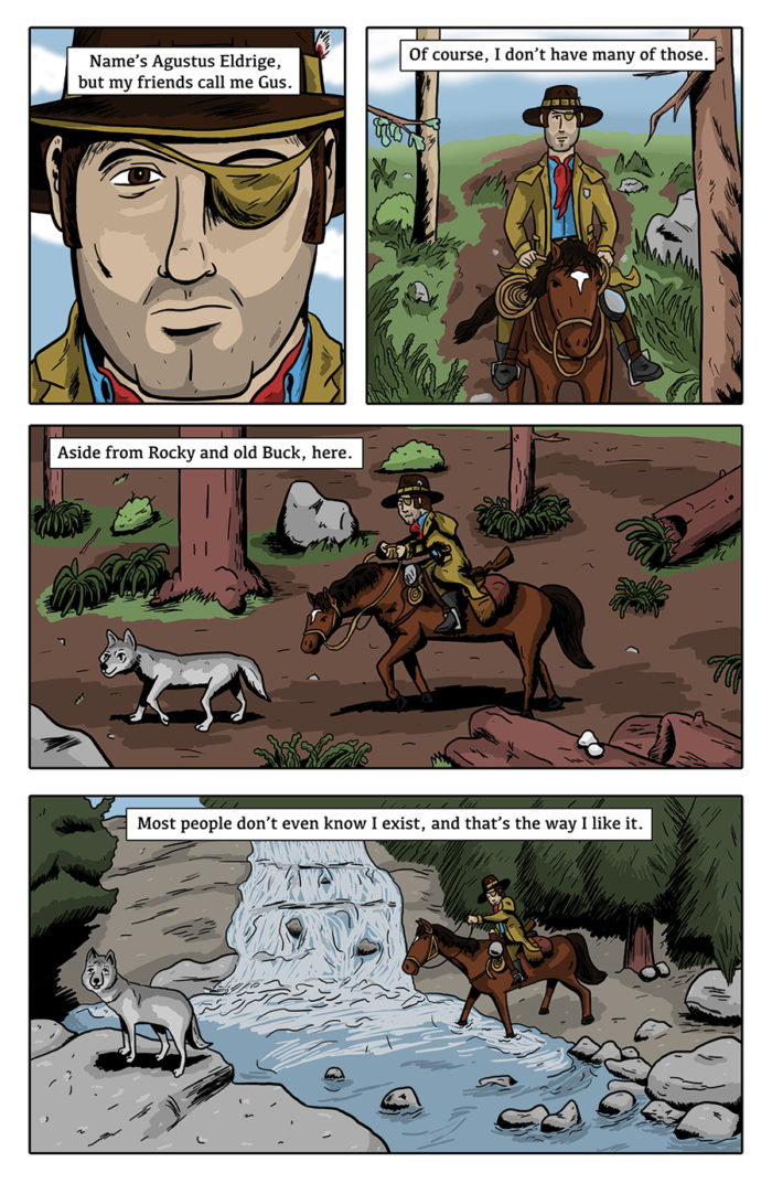 Paranormal Pinkerton #0 page 1