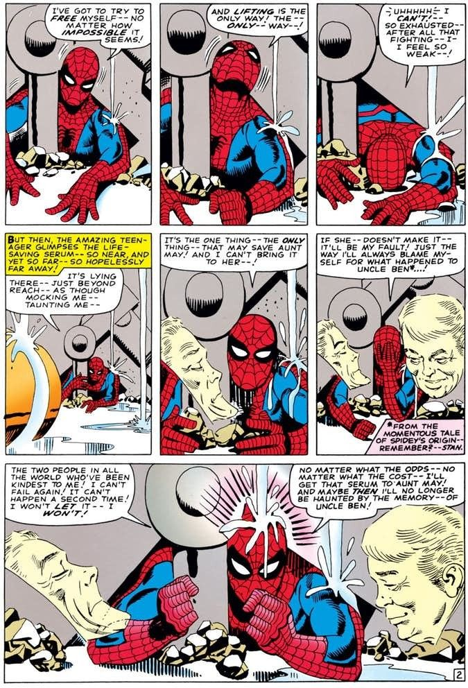 Steve Ditko 9 grid panel