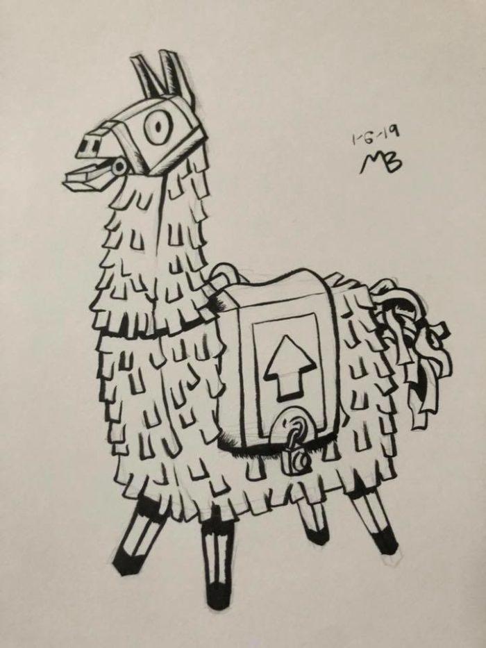 Llama Piñata from Fortnite