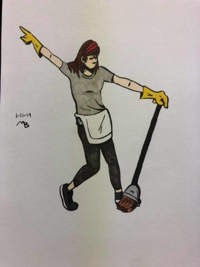 dancing maid