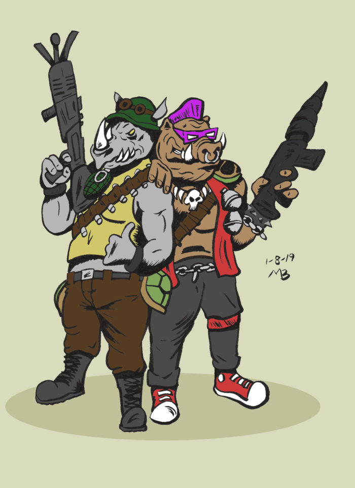 Bebop and Rocksteady in color