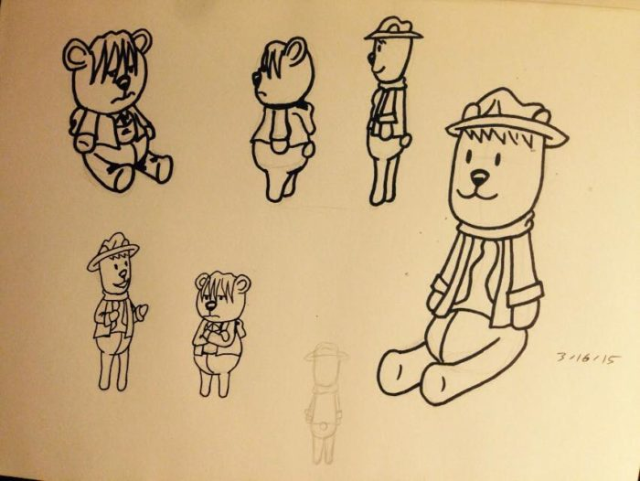 character redesigns for Optimistically Cynical