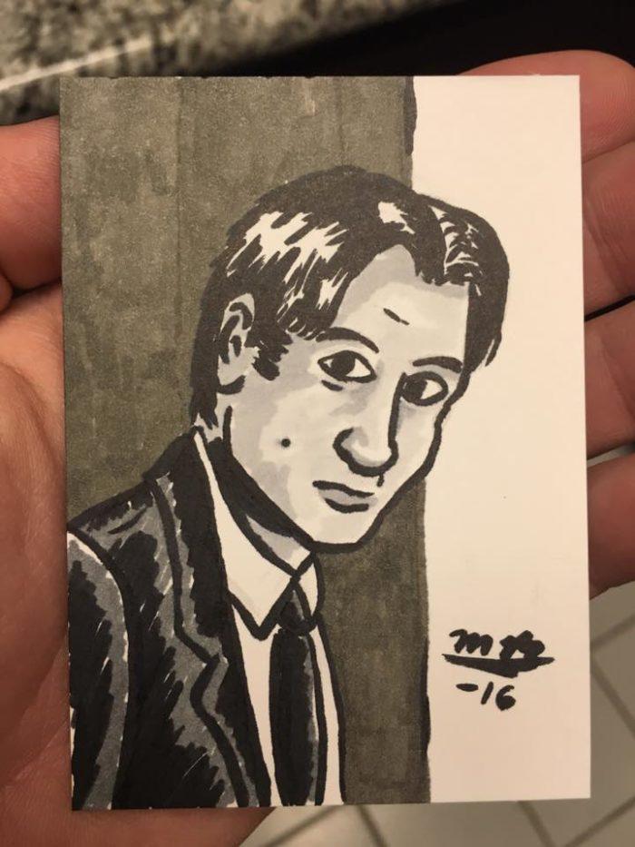 Mulder sketch card