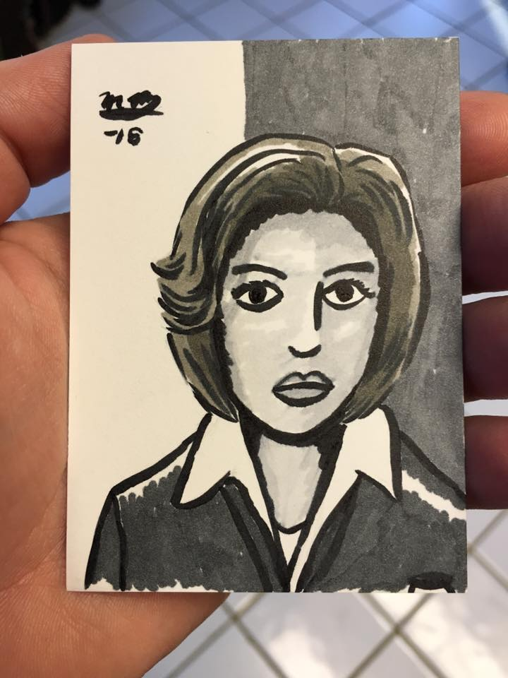 Scully sketch card