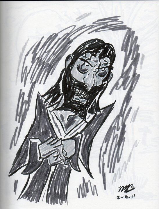 Pen Brush sketch of Rasputin