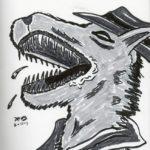 sketch of a wild Detective Redmond