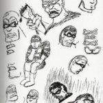 face studies of Black Snow