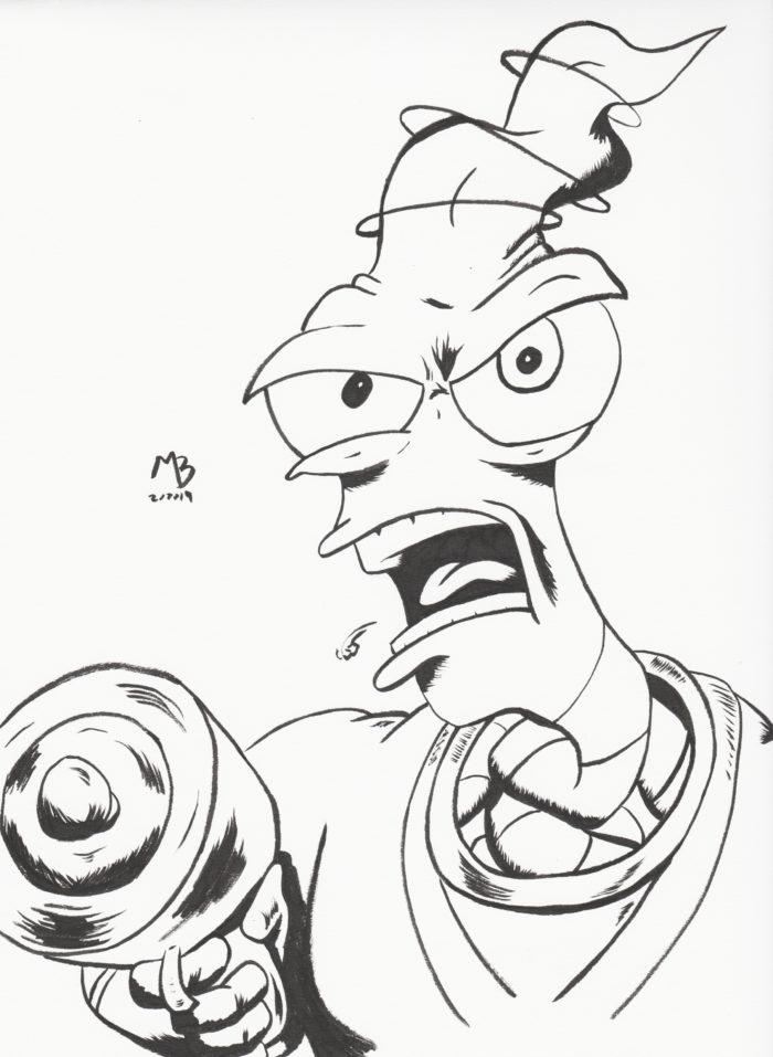 Earthworm Jim sketch
