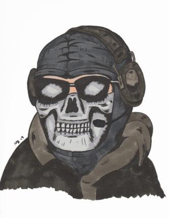 Ghost from Call of Duty Modern Warfare 2