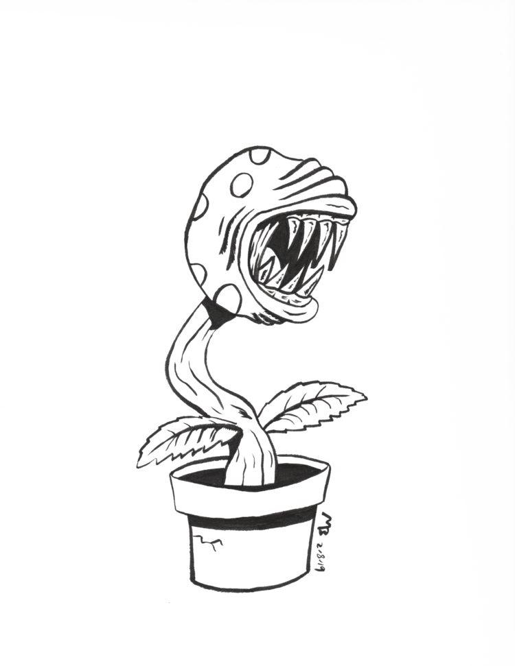Piranha Plant sketch