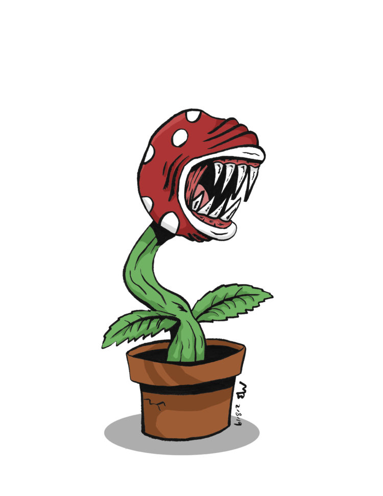 Piranha Plant drawing